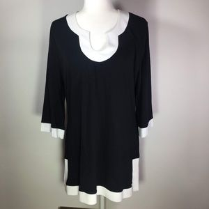 Soft Surroundings Black & White Tunic Petit Large